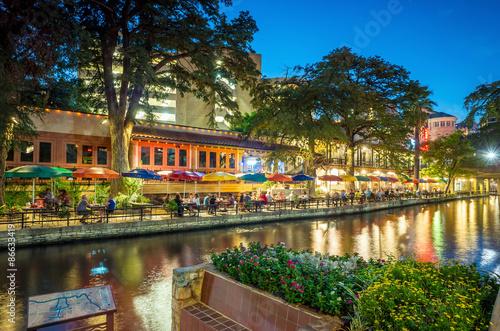 Poster Texas Riverwalk San Antonio