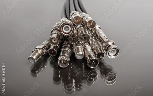 Fotografía  Coaxial connectors