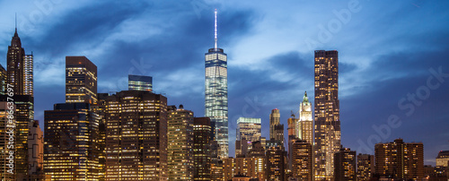 New York City skyline at night #86637697