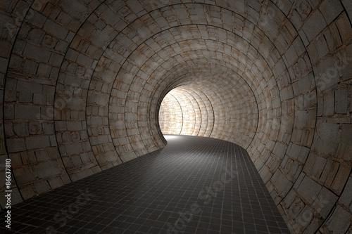 plakat 3d tunnel