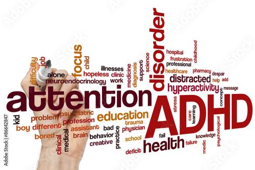 ADHD word cloud Wallpaper Mural
