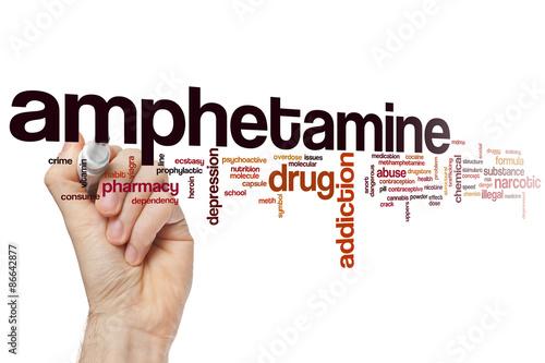 Leinwand Poster Amphetamin-Wortwolke
