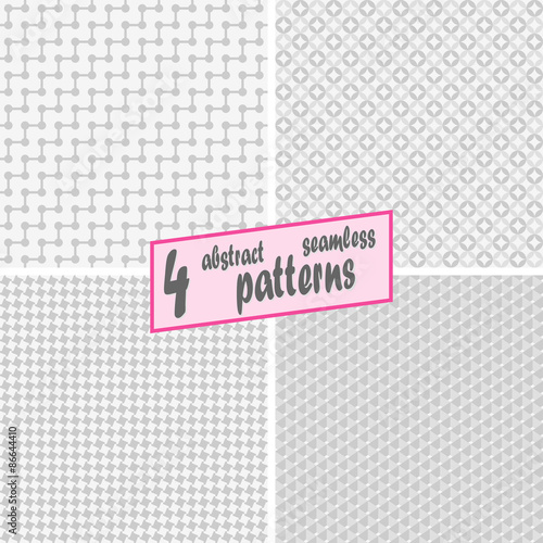 In de dag Retro sign collection seamless abstract backgrounds
