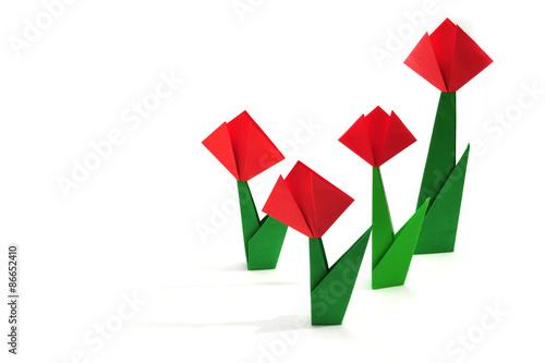 Origami Tulip Poster