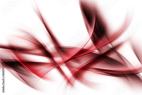 Staande foto Fractal waves Dark Red Powerful Abstract Waves Background