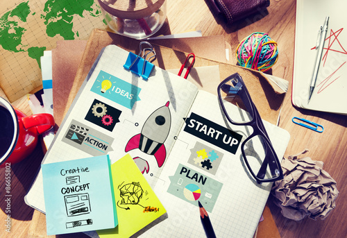 Fototapeta Startup Innovation Planning Ideas Team Success Concept obraz na płótnie