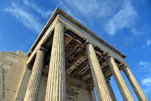 Foto Temple de l'Erechteion sur l'Acropole à Athènes