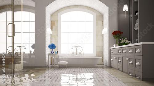 Fotografía Wasserschaden im Badezimmer