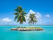 Leinwandbild Motiv Urlaubsinsel im Pazifik