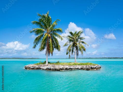 Urlaubsinsel im Pazifik Plakat