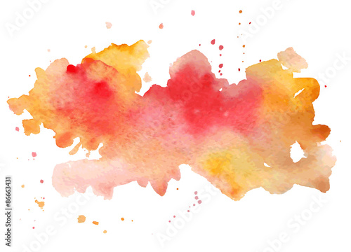 Fotografie, Obraz  Vector watercolor abstract hand painted background.