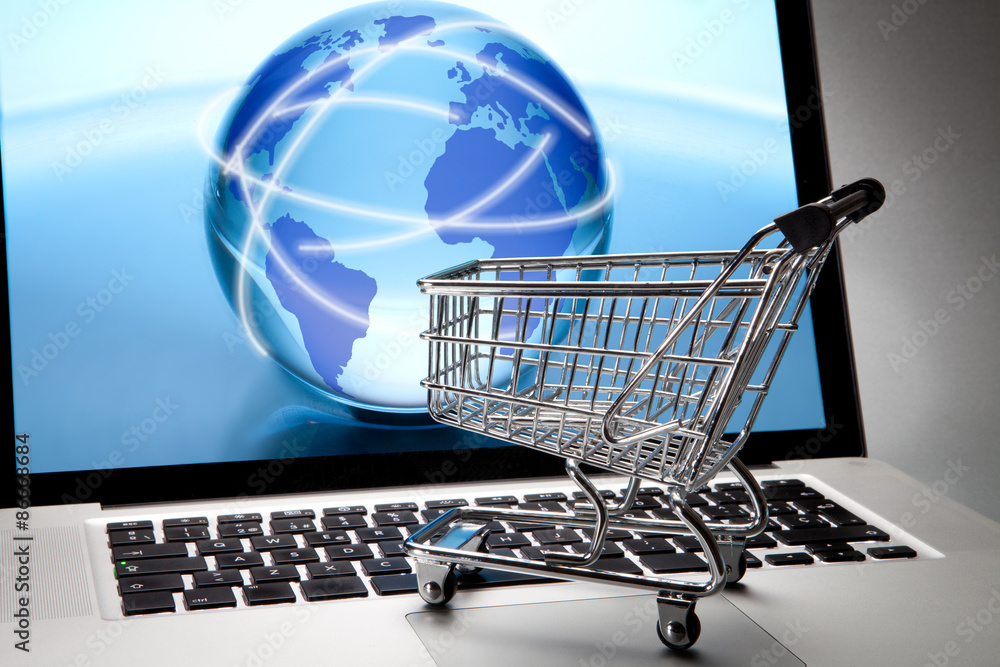 Fototapeta Shopping by internet