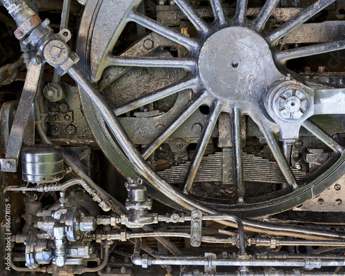 Photo  steam punk style mechanical background