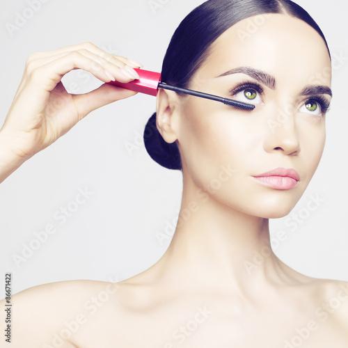 Eye makeup Canvas Print