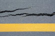Asphalt Road Cracks And Collap...