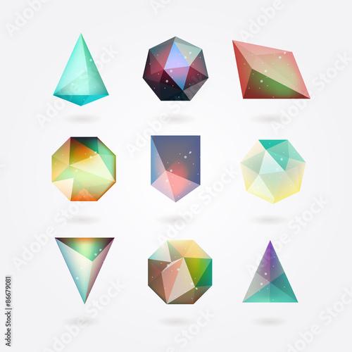Fotografie, Obraz  polygonal crystal