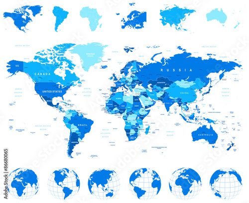 World map globes continents illustrationhighly detailed vector world map globes continents illustrationhighly detailed vector illustration of world map gumiabroncs Gallery