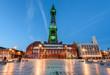 canvas print picture - Blackpool Tower Illumination
