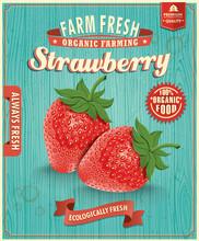 Vintage Farm Fresh Strawberry Design