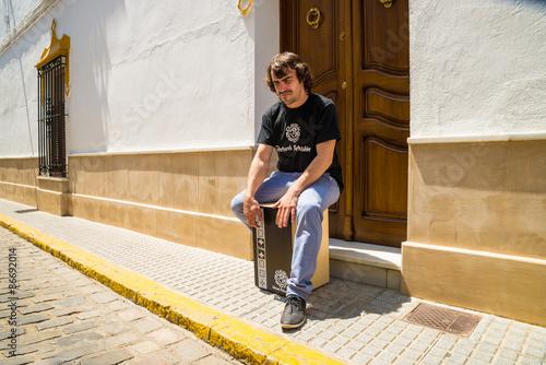 Fototapeta Flamenco percussionist