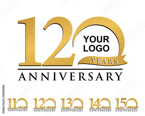 Fotografia  anniversary element gold logo 110-150