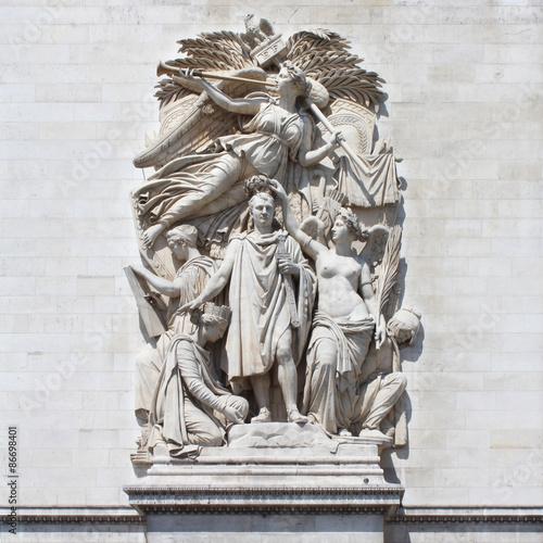Fotografia  Paris - Arc de Triomphe /  Le Triomphe de 1810 de Cortot