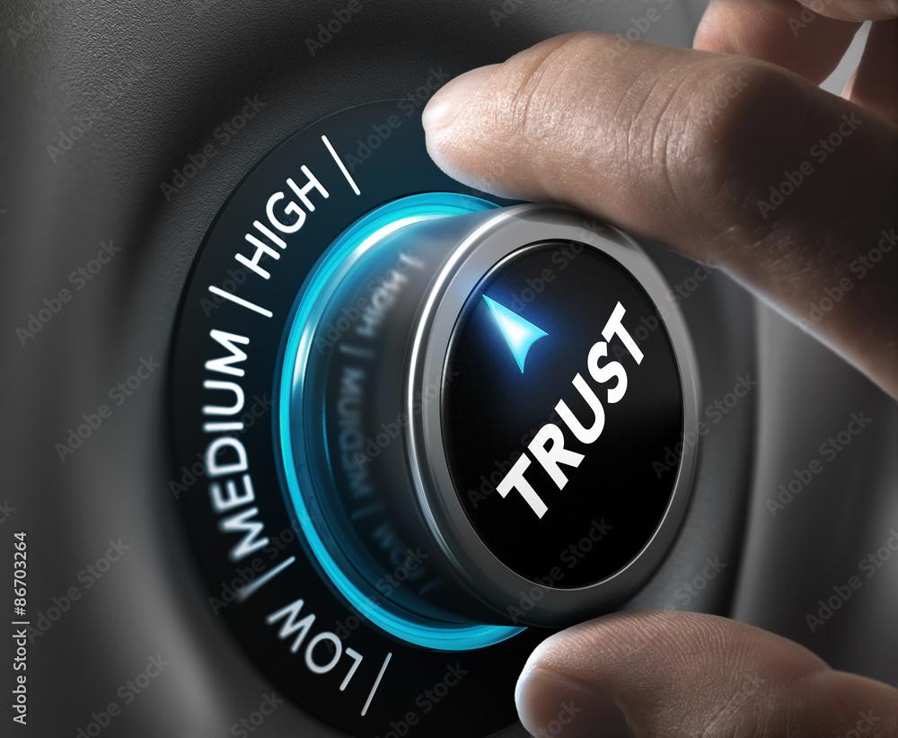 Fototapeta Trust Concept