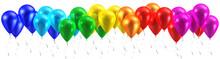 Rainbow Balloons Isolated On White