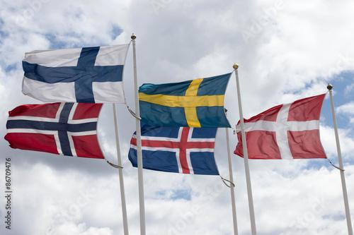 Garden Poster Scandinavia Skandinavien