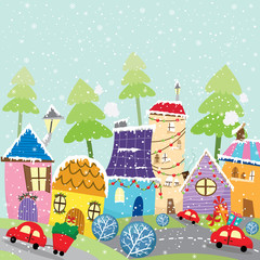 Colorful Christmas City