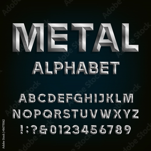 Metal Beveled Font Canvas-taulu