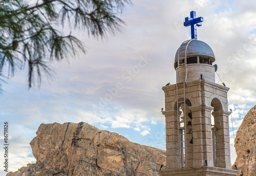 Monastery chapel  in Ma`loula. Canvas Print