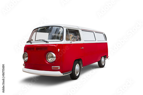 Cadres-photo bureau Vintage voitures Camping-Car autour du Monde