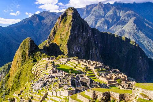 Photo Stands South America Country Machu Picchu (Peru, Southa America), a UNESCO World Heritage Site