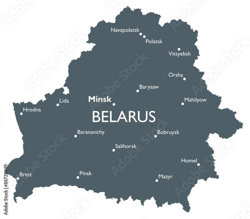 Belarus map Wallpaper Mural