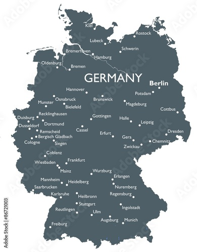 Germany map Fototapeta
