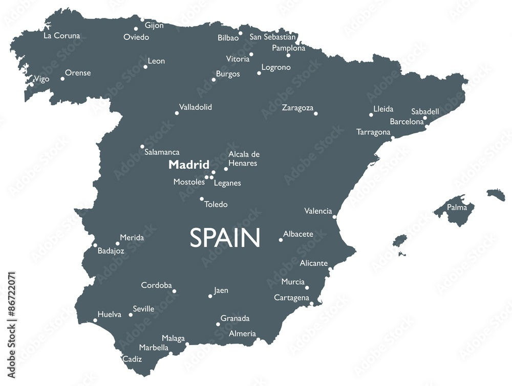 Fotografia Spain map Kup na Posters