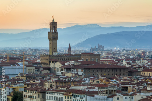 Fotobehang Florence view of Palazzo Vecchio, Florence, Italy