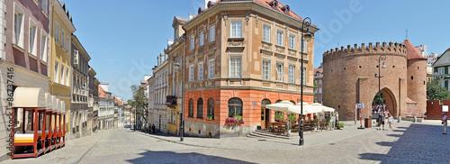 fototapeta na szkło Warszawa, Stare Miasto -Stitched Panorama