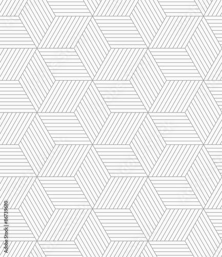 Slim gray hatched cubes Canvas-taulu