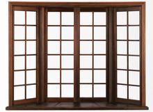 Wooden Window Isolated