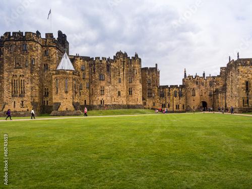 Alnwick, Northumberland, UK, 28th June 2015. Alnwick Castle a popular film location