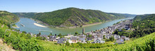 Rhine River In Germany At The ...