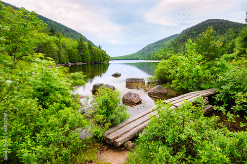 Keuken foto achterwand Natuur Park Footbridge at Acadia National Park