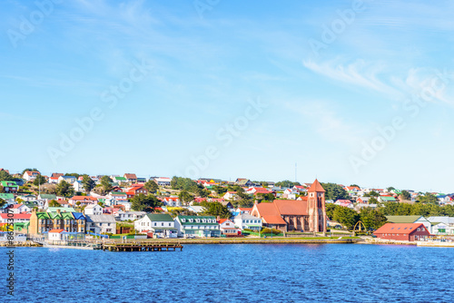 Canvas Prints Antarctic Port Stanley, the capital of the Falkland Islands.