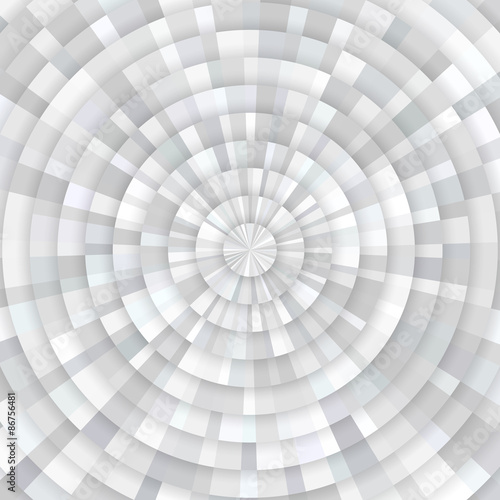 Abstract gray white shining circle tunnel vector background