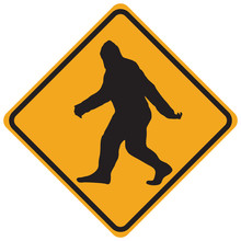 Bigfoot Warning Sign