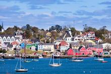 Historic Lunenburg Harbor Nova Scotia NS Canada