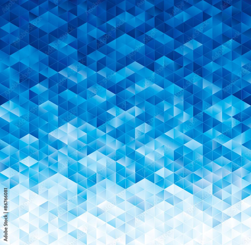 Fototapeta Abstract geometric blue texture background.