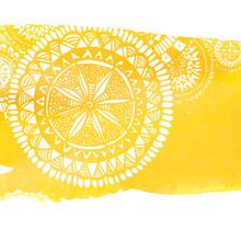 Yellow Watercolor Paint Backgr...